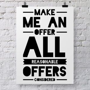 All offers considered 😊